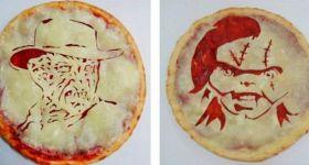 Пицца с героями ужасов