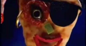 Реклама пиццы на Хэллоуин