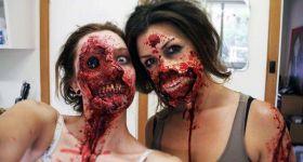 Реалистично заграмированные зомби-девушки