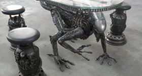 Мебель из металлолома в стиле «Чужих»