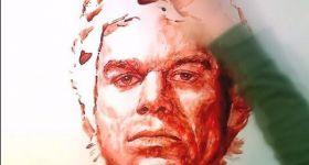 Портрет Декстера из крови