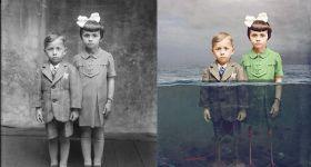 Сюрреализм в старых восстановленных фотографиях