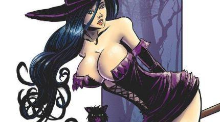 Красивые ведьмы в Хэллоуин
